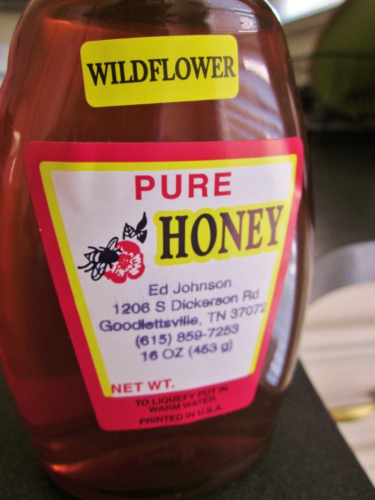 Honey from a local producer