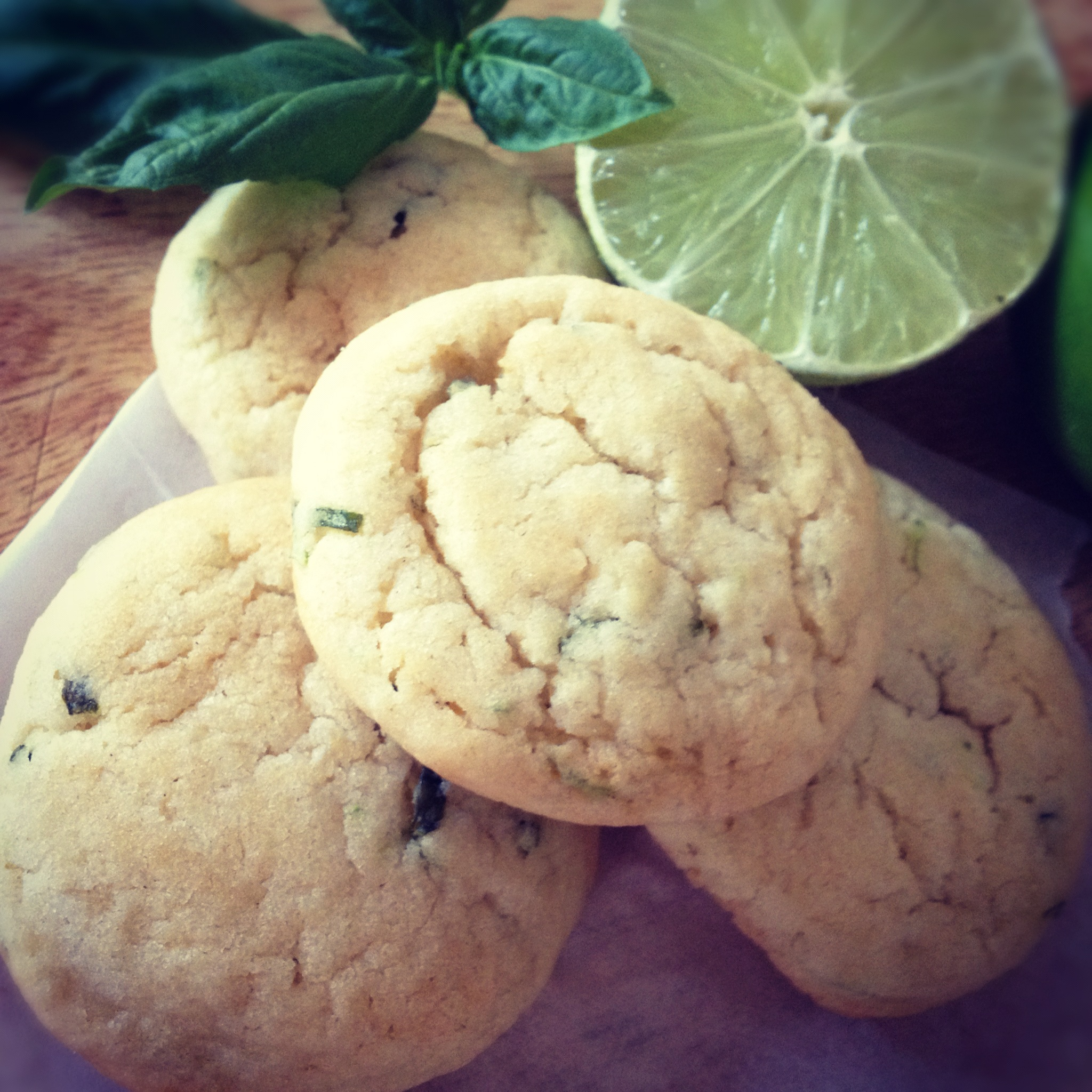 Lime-Basil Cookies
