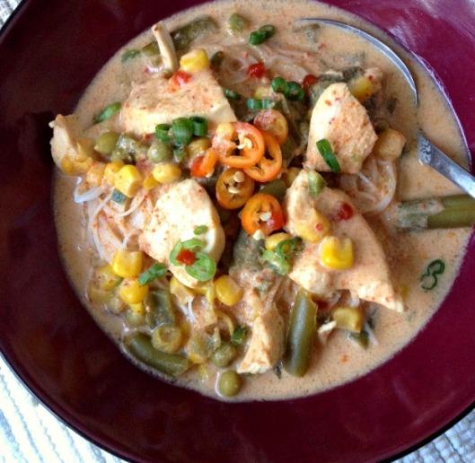 Thai Curry Chicken & Veggie Soup