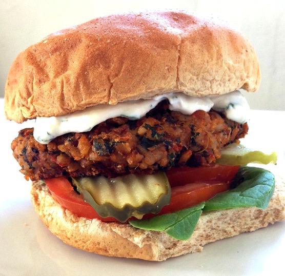 Black-Eyed Pea & Brown Rice Burger