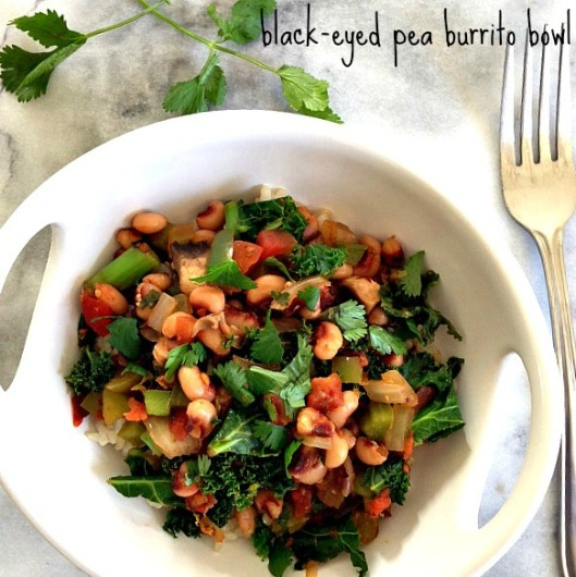 blackeyed pea burrito bowl