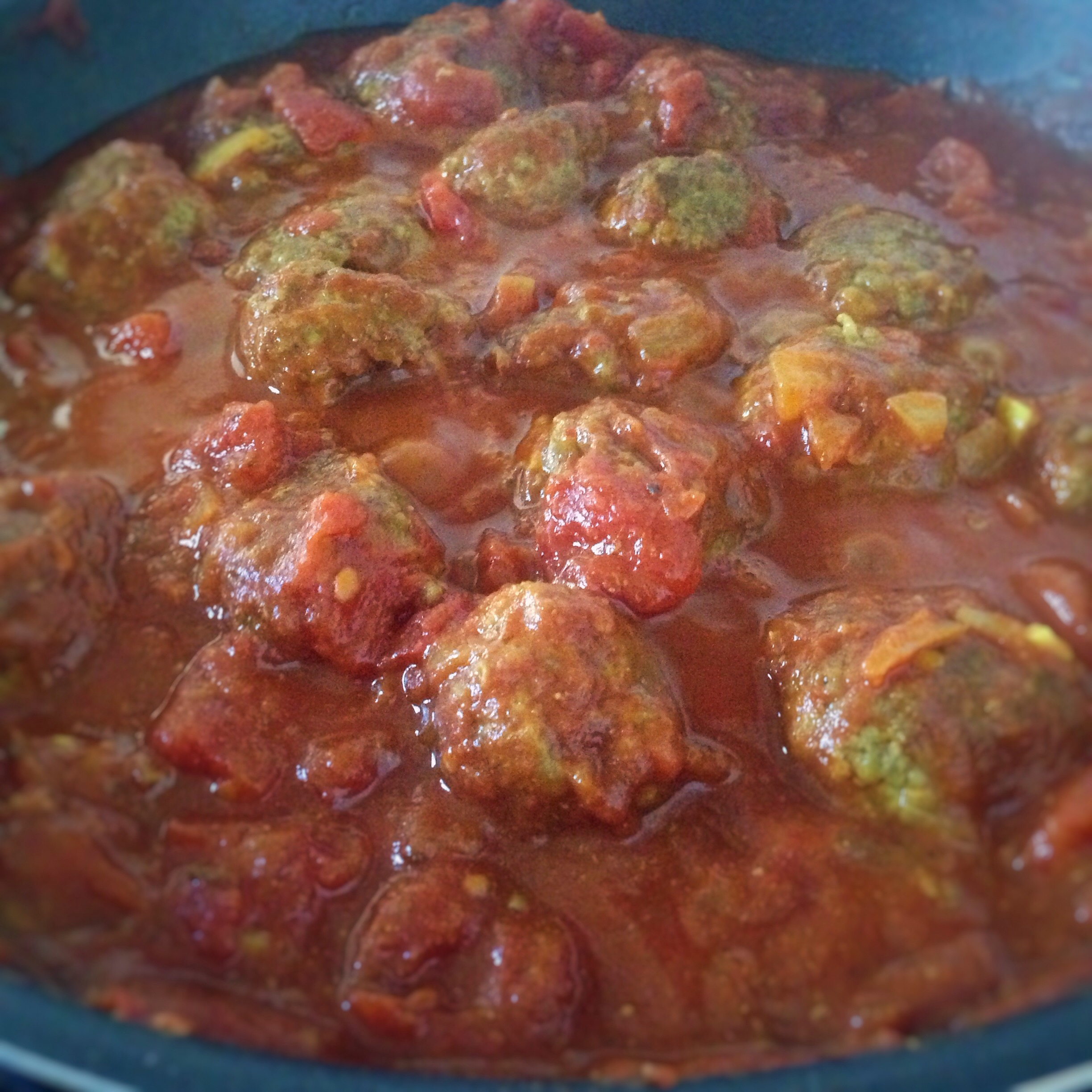 Lamb Meatballs in Tomato Curry Sauce