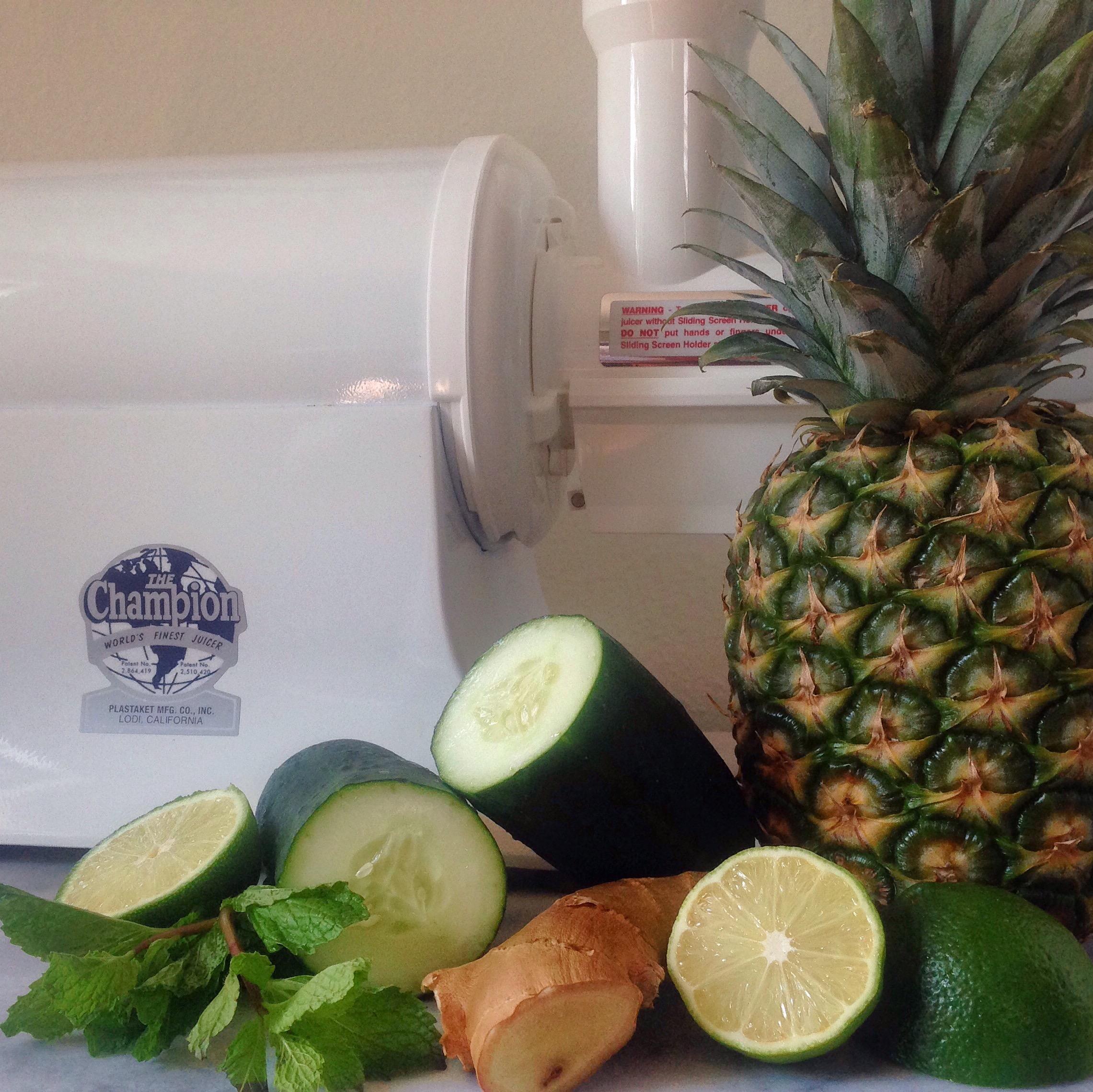 Pineapple Cucumber Mint Juice