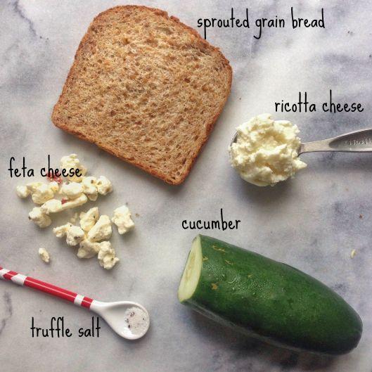 cucumber tartine ingredients