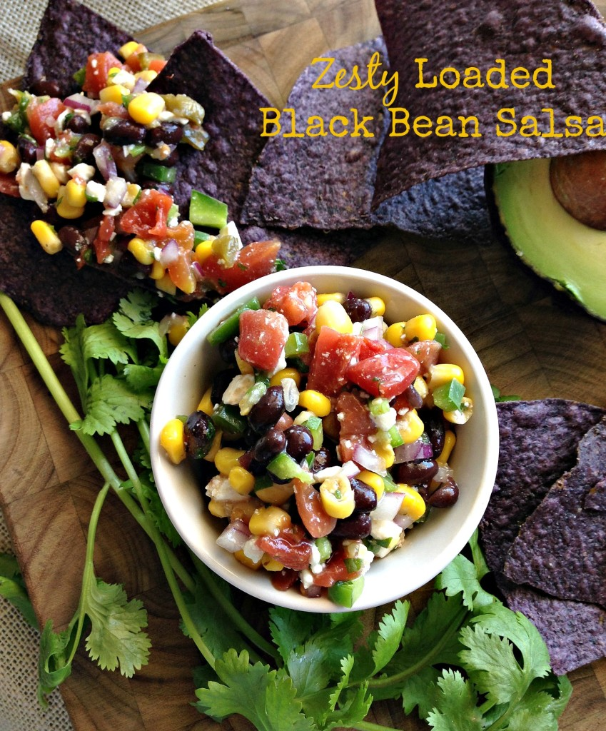 Zesty Loaded Black Bean Dip via Dishing Out Health