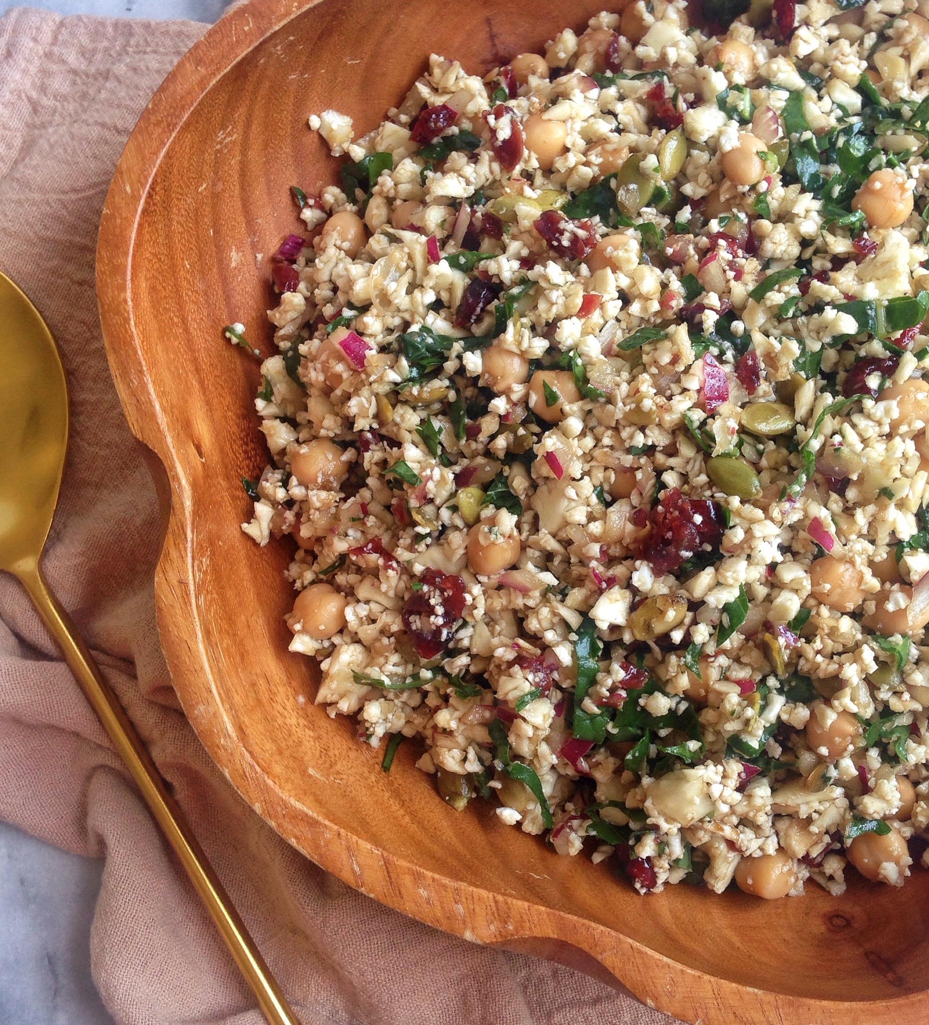 Cauliflower Cranberry Superfood Salad
